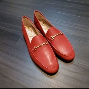 New in Box   Sam Edelman Loraine Red Leather Loafe